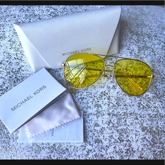 Auth Michael Kors M5016 Kendall Yellow Sunglasses